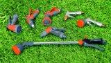 L'embout de durites en alliage de zinc de jardin a placé avec le connecteur de boyau, adaptateur, pistolet de pulvérisation