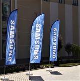 Bandeiras de praia quentes da tela da venda para anunciar