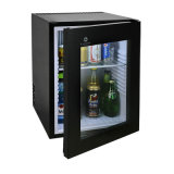 Minibar claro energy-saving do diodo emissor de luz da porta de vidro popular do hotel 40L