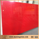 Bancada vermelha da pedra de quartzo da faísca dos materiais de construção do hotel