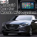 Video interfaccia di percorso Android per percorso di tocco di aggiornamento Mazda3, WiFi, BT, Mirrorlink, HD 1080P, programma di Google, memoria del gioco