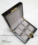 Caixa de embalagem Handmade bonita do relógio da caixa de jóia da folhosa
