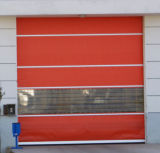 Clearn 룸을%s 문이 급속한 PVC 직물에 의하여 위로 구른다