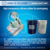 Caoutchouc de silicones liquide transparent élevé pour Protoytping