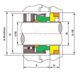 Ts 109 bearbeiteten mechanische Dichtung maschinell (AESSEAL M01, KRAN 109 ersetzen)