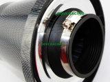 filtro dell'aria dell'automobile del collo di 3in 76mm con l'automobile cromata di prestazione del coperchio
