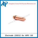 Électrode 220552 pour les consommables 50A de torche de découpage du plasma Hpr130