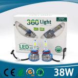 LED H4 12Vの新製品2016の穂軸LED H4が付いている車そしてオートバイのための革新的な製品36W 3600lm LEDのヘッドライト