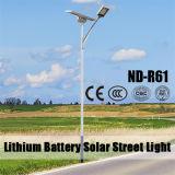 Luz de rua solar Certificated Ce do diodo emissor de luz para a iluminação urbana da estrada de 2 pistas
