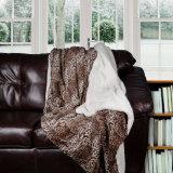 Nuova pelliccia di lusso del Faux di disegno con la coperta di Sherpa