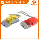 Gerador recarregável da manivela da lanterna elétrica do diodo emissor de luz da manivela poderosa pequena das luzes do diodo emissor de luz
