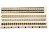 Autoadesivo provvisorio impermeabile del tatuaggio della banda metallica d'argento dell'oro