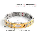 Nueva pulsera de acero inoxidable de los hombres 316L con el elemento bio 4in1