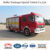 euro 4 del camion dei vigili del fuoco della gomma piuma di 5.5ton Dongfeng