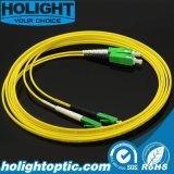 Sca au câble duplex de connexion de fibre optique du SM 2.0mm de Lca