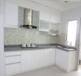 Elegante weiße Küche des Lack-2016