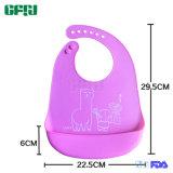 Bib младенца силикона продуктов органический FDA/LFGB износа младенца изготовления BSCI с улавливателем Crumble