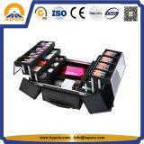 화장품 (HB-6345)를 위한 우아하고 관대한 알루미늄 트롤리 상자 저장 상자 아름다움 케이스