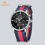 De buitensporige Chronograaf die van het Horloge van de Sport van de Manier Horloge Mens met Nylon Band72683 charmeren