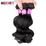 Weave natural do cabelo de Remy do Virgin dos pacotes peruanos do cabelo humano da onda do corpo
