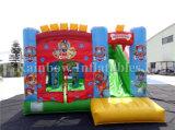 Corrediça de salto inflável do Bouncer do projeto famoso dos desenhos animados combinado