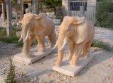 Estatua de mármol del elefante, escultura de piedra en frente la puerta, elefante Stautue, elefante para la nueva casa de la decoración