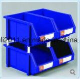 Caixa plástica Stackable plástica dos escaninhos/peças de armazenamento do armazém