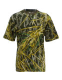 T-shirt 100% extérieur d'usure d'impression réactive de camouflage de coton