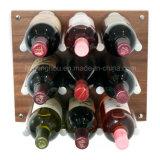 Muur Opgezet Rek 9 van de Wijn de Pinnen van de Wijn van het Aluminium van de Fles