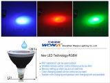 Lámpara impermeable del LED PAR38 RGB para la aplicación al aire libre