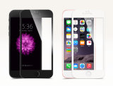 protector redondo suave curvado 3D de la pantalla de la cubierta completa de la fibra del carbón para el iPhone 7 más