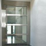 Moderne Aluminiumhaupttüren und Fenster-Aluminiumrahmen-Glas-Tür