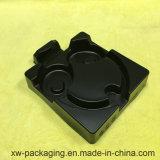 Средний черный поднос упаковки волдыря для шлемофона
