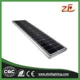 Luz de calle solar elegante del sensor de movimiento LED con el mono panel 45W