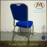 Heißes Verkaufs-Metallchrom-blauer Bankett-Stuhl verwendet
