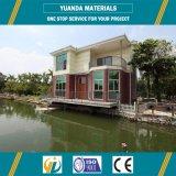 Chalet ligero de la estructura de acero con el panel concreto ligero
