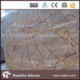 Lastre di marmo del Brown della foresta pluviale per il controsoffitto e la parete