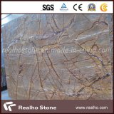 Lajes de mármore de Brown da floresta tropical para a bancada e a parede