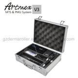 Halb permanente Verfassungs-Tätowierung-Maschine Artmex V3 mit hellem Aluminiumkasten