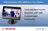 Ahd1080p hintere Ansicht-Monitor Bus&Truck videoÜberwachungssystem mit 2 Kanälen Input, Verspätung, parkende Korrekturlinie, Noten-Taste