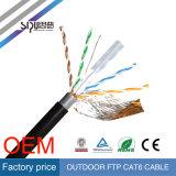Кабель LAN напольное 23AWG локальных сетей Sipu водоустойчивый UTP CAT6 4p