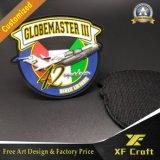 Kundenspezifische Belüftung-Gummiänderung am objektprogramm 3D mit heißem Flausch auf Rückseite (XF-PT08)