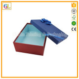 Выбитая таможней коробка подарка картона логоса твердая с крышкой