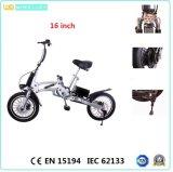 CE 16-Inch una bici eléctrica de condensación plegable del segundo