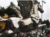 Cheval volant, grande sculpture en plein air et décoration d'intérieur Décoration en métal, art artisanat, peut être personnalisé pour faire de la sculpture