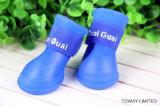 Chaussures imperméables à l'eau d'animal familier de PVC personnalisées par qualité de gaine de pluie de crabot petites