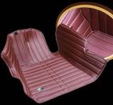 Moquette sintetica del Leatherette XPE del ricamo delle stuoie 3D dell'automobile