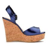 Sandali casuali del cuneo del sughero delle donne della signora alti talloni (CIF DDP)