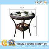 藤の家具の標準的で簡単な屋外のコーヒーテーブル
