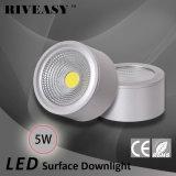 luz de plata montada superficie de Downlight de la MAZORCA de 5W LED